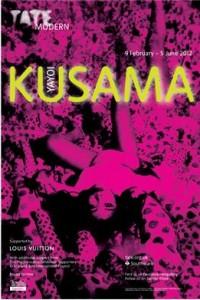 kusama exhibition poster tate